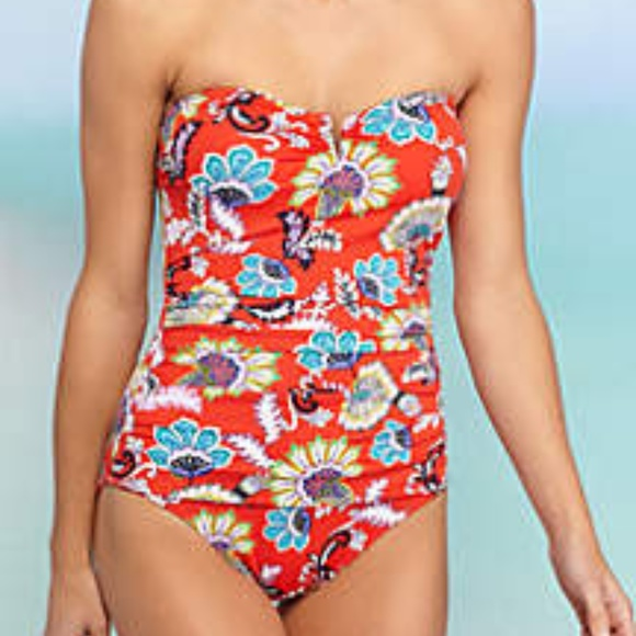 924b39f92b Tommy Bahama Fira Floral Bandeau OnePiece swimsuit.  M_5ad6d10d8af1c5618653ff5f
